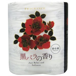 四国特紙の黒バラの香りトイレットペーパーです