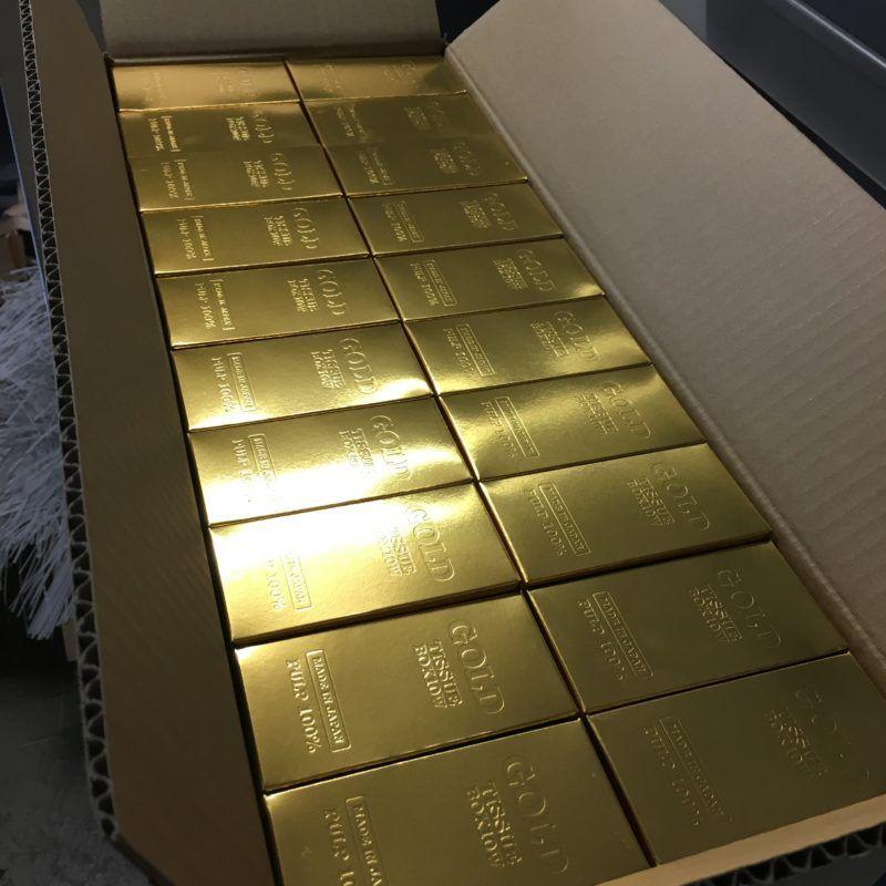 粗品で人気のゴールドボックスティッシュ