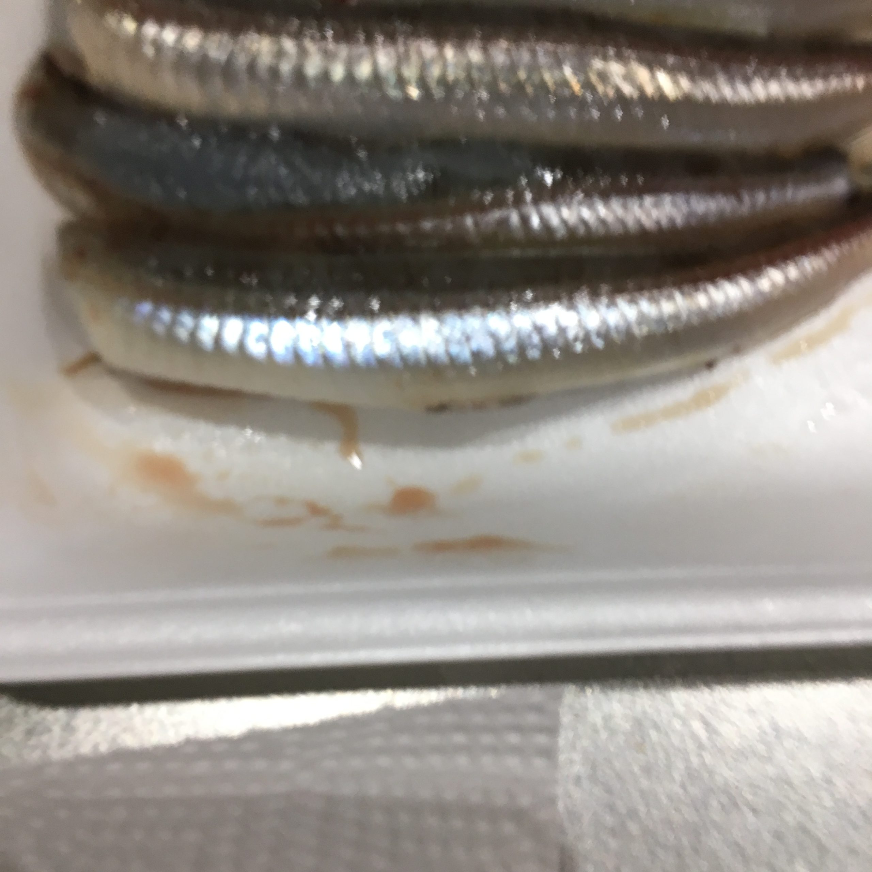 魚から出るドリップや血です