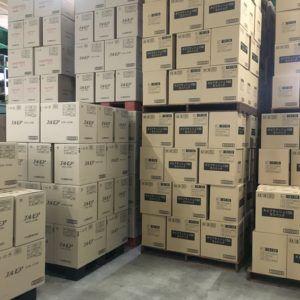 ティッシュ卸売浜田紙業の倉庫です