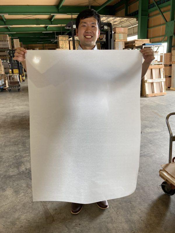 薄葉紙には全倍サイズがあります