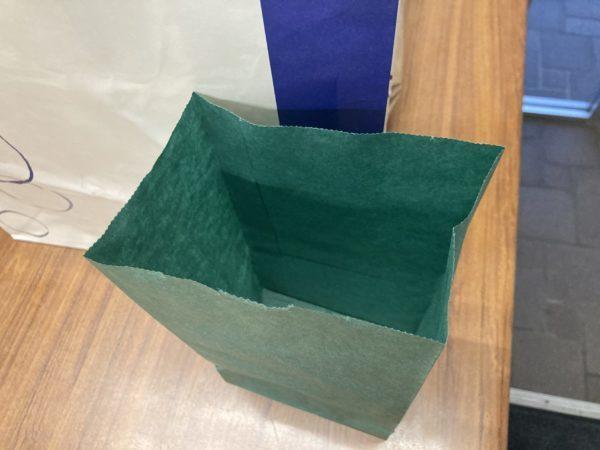 グリーンパーチの紙袋です