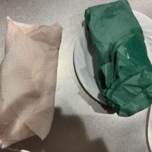 グリーン耐水紙を肉で熟成します