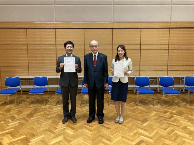 谷本石川県知事と写真を撮りました