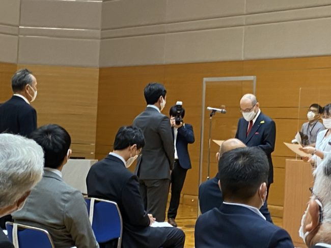 谷本県知事から採択通知をもらいました