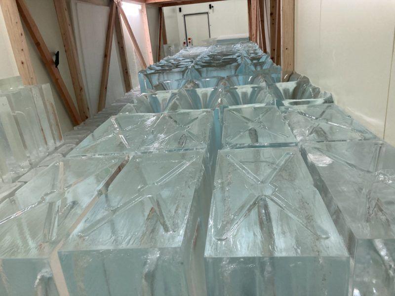 氷製造です
