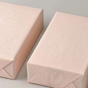 桃色りんどう柄の包装紙です