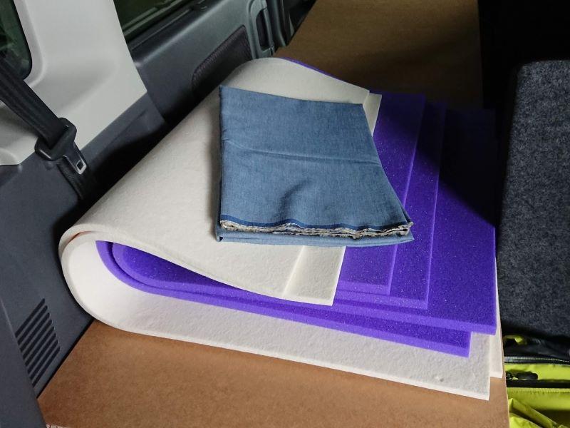 車中泊用の布です