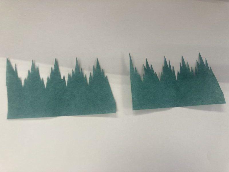 バランを紙で作りました