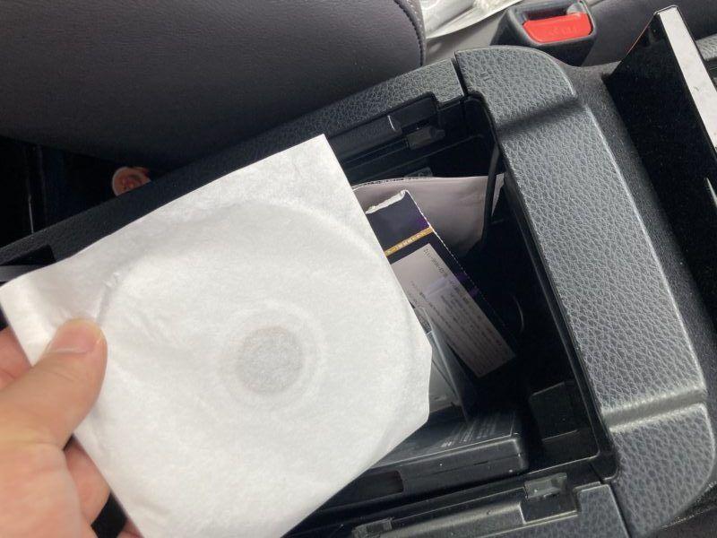 車に入れるCD包装紙です