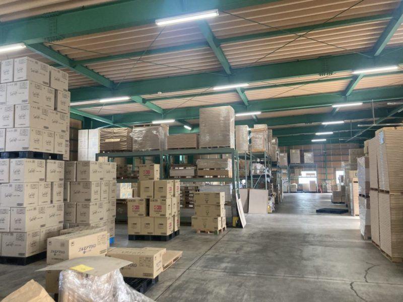 浜田紙業(株)の倉庫です