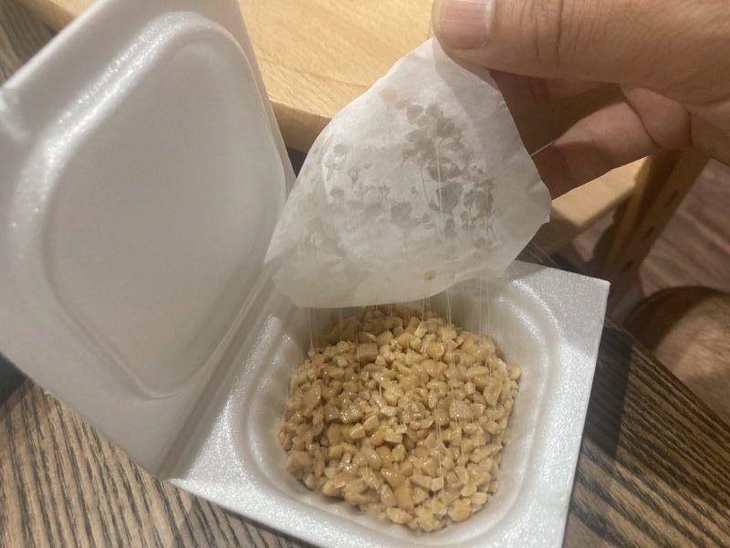 納豆フィルムを食品包装紙に